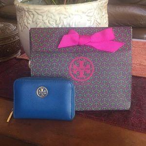 Tory burch robinson zip coin purse